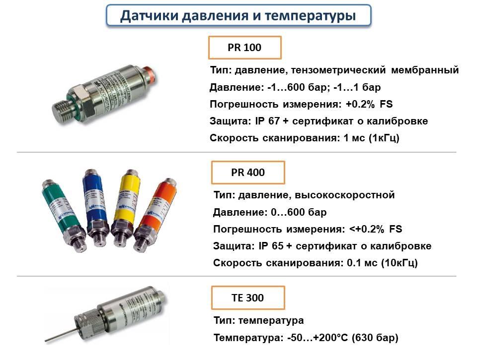 Датчики давления и температуры Hydrotechnik