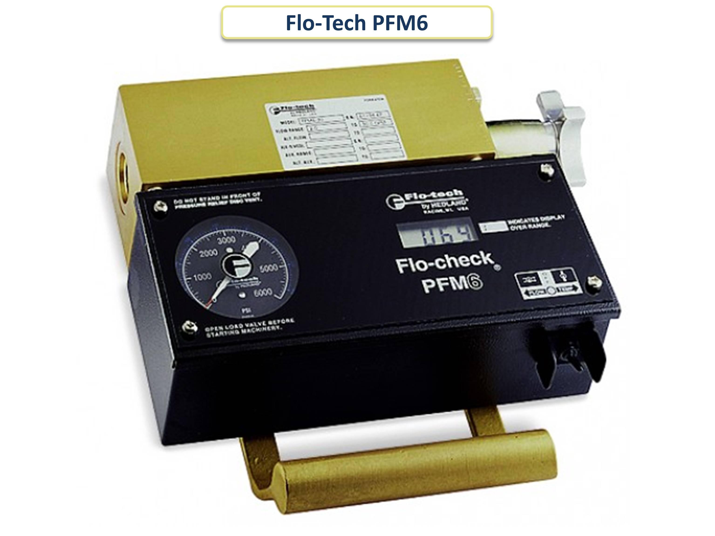 Цифровой портативный гидравлический тестер Flo-Tech PFM6 - слайдер