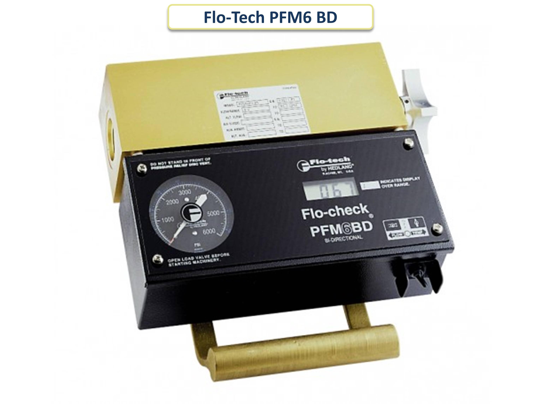 Двунаправленный портативный гидравлический тестер Flo-Tech PFM6 BD - слайдер