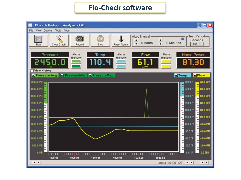 USB-анализатор гидравлической системы Flo-Tech Flo-Check® USB (интерфейс ПК) - слайдер