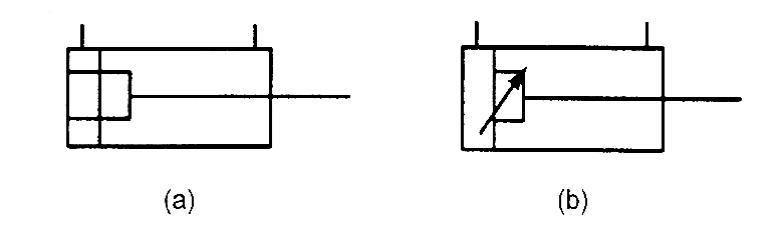 Гидроцилиндр с двухсторонним амортизатором и настраиваемым амортизатором