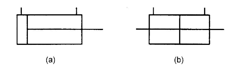 Обозначение одноштокового и двухштокового гидроцилиндра