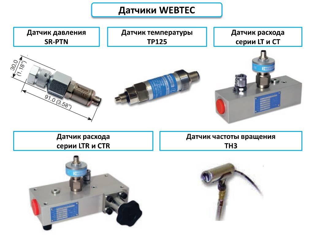 Датчики Webtec